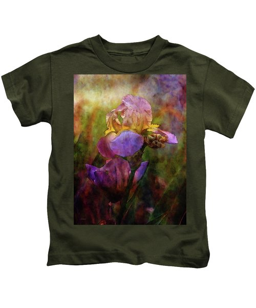Rich Purple Irises 0056 Idp_22 Kids T-Shirt