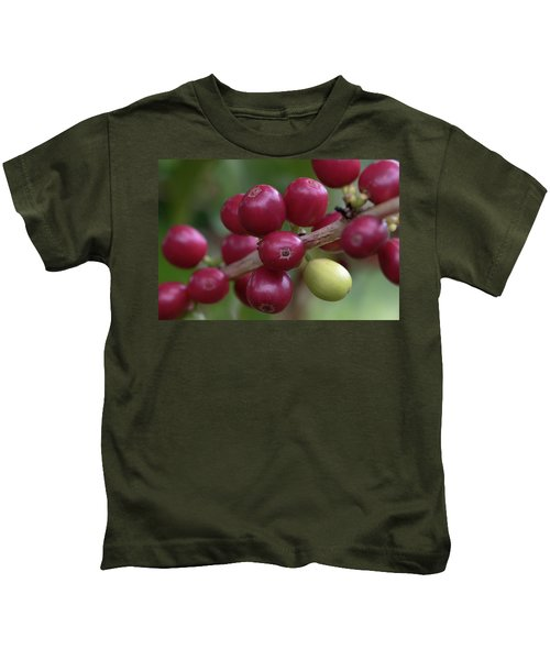 Ripe Kona Coffee Cherries Kids T-Shirt