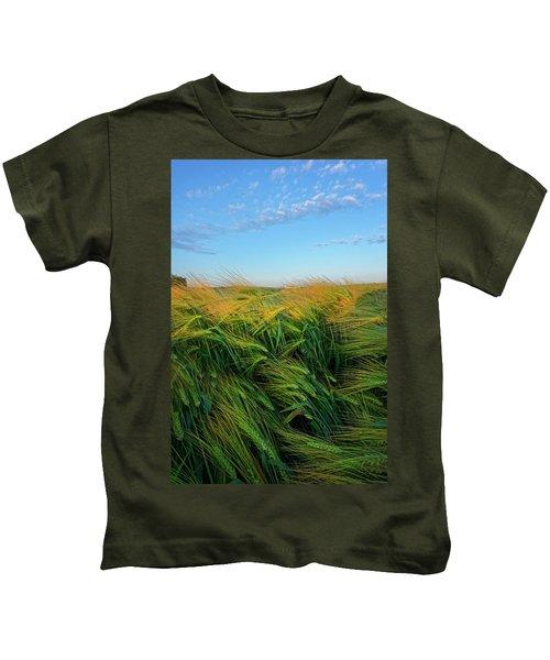 Ripening Barley Kids T-Shirt
