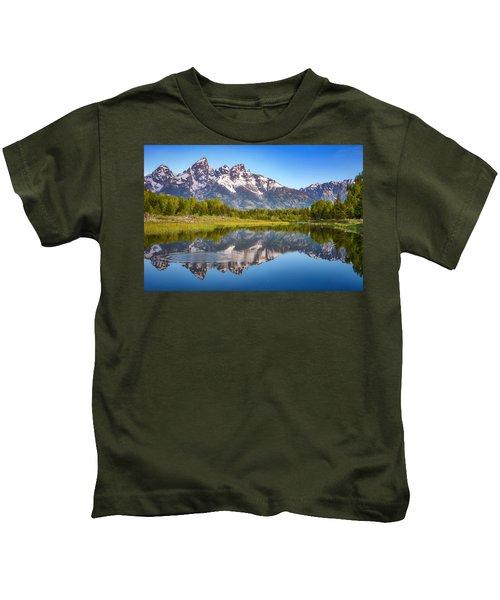 Ripples In The Tetons Kids T-Shirt