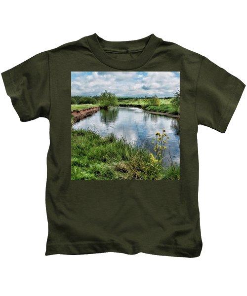 River Tame, Rspb Middleton, North Kids T-Shirt