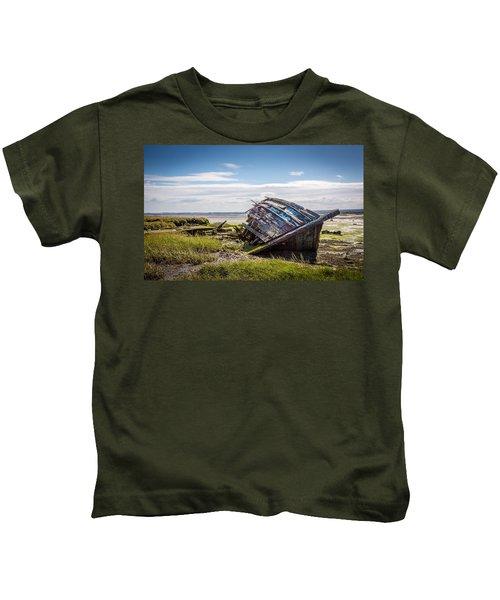 Riverside Boat. Kids T-Shirt