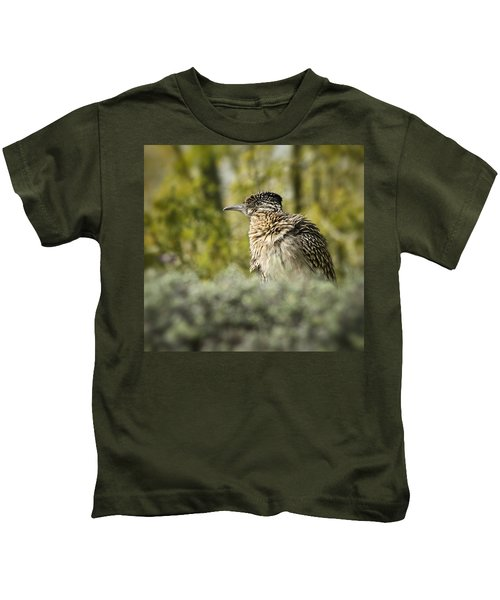 Roadrunner On Guard  Kids T-Shirt by Saija  Lehtonen
