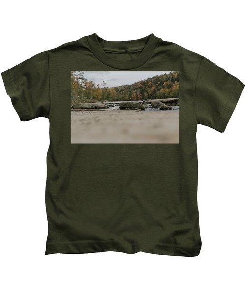 Rocks On Cumberland River Kids T-Shirt