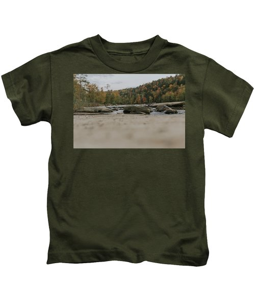 Rocks On Cumberland River Kids T-Shirt
