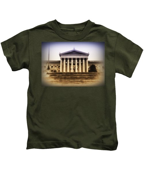 Rocky On The Art Museum Steps Kids T-Shirt