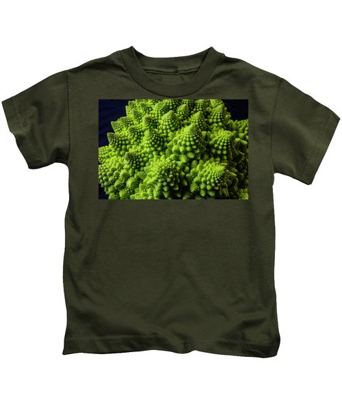 Romanesco Broccoli Kids T-Shirt by Garry Gay