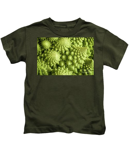 Romanesco Broccoli Vegetable Close Up Kids T-Shirt