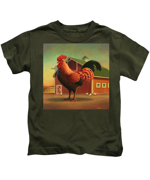Rooster And The Barn Kids T-Shirt