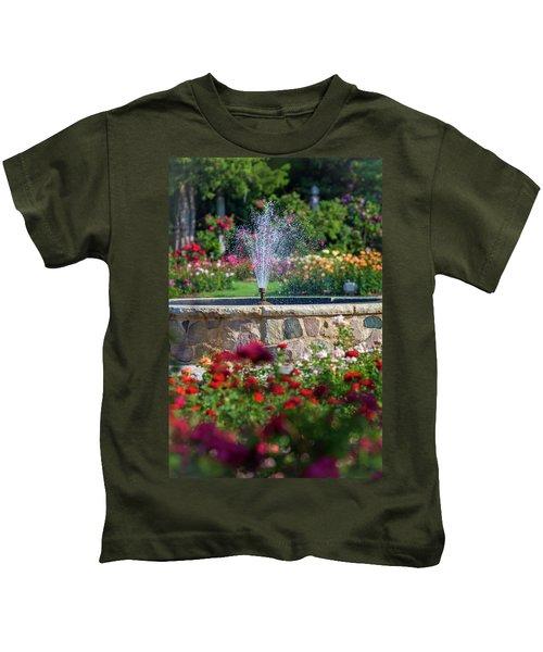 Rose Fountain Kids T-Shirt