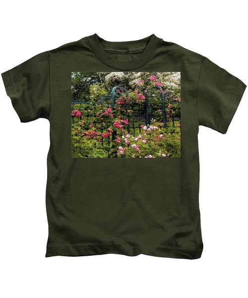 Rose Trellis Kids T-Shirt