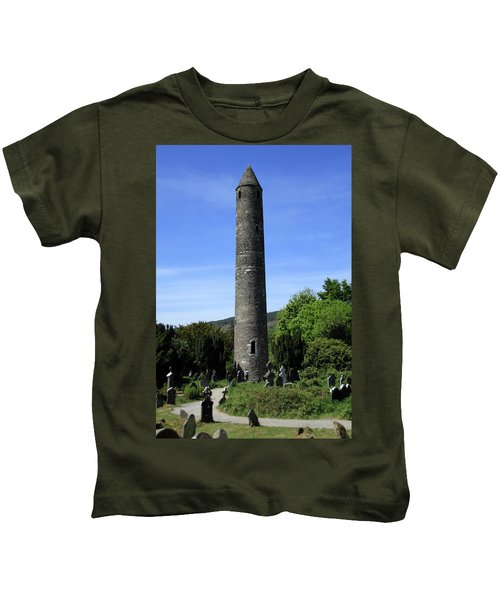 Round Tower At Glendalough Kids T-Shirt
