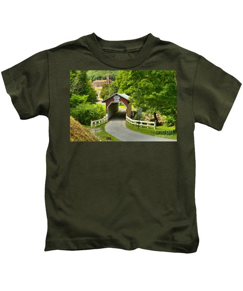 Route 812 Covered Bridge Kids T-Shirt