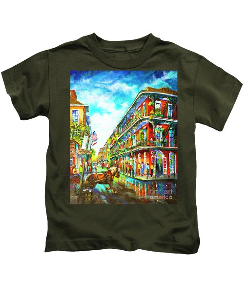 Royal Carriage - New Orleans French Quarter Kids T-Shirt