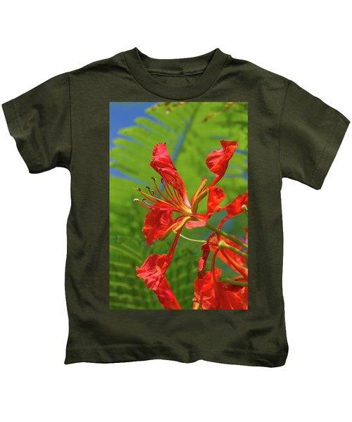 Royal Poinciana Flower Kids T-Shirt