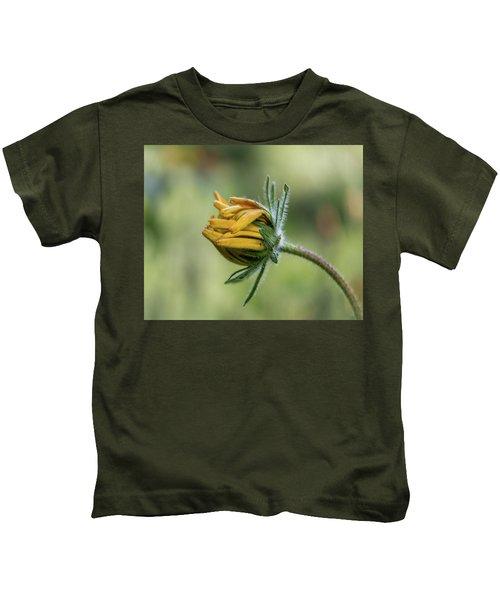 Rudbeckia Fuzzy Bud Kids T-Shirt