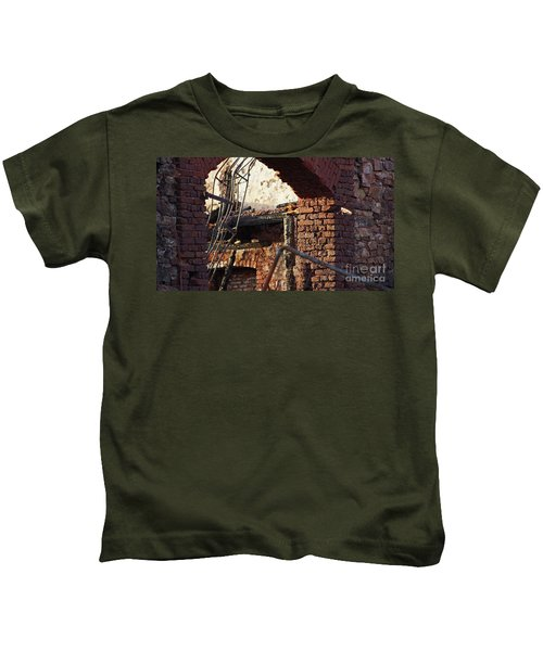 Ruin After Big Fire  Kids T-Shirt