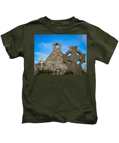 Kids T-Shirt featuring the photograph Ruins At 12th Century Killone Abbey by James Truett