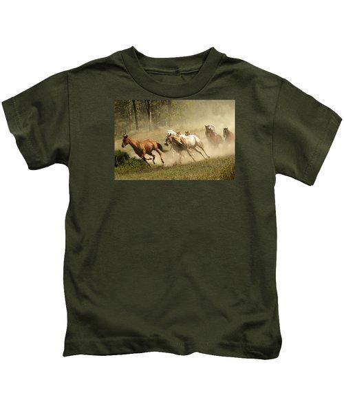 Running Horses Kids T-Shirt