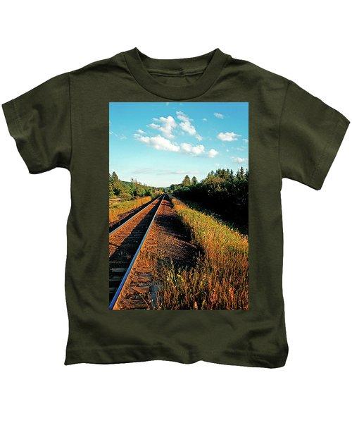 Rural Country Side Train Tracks Kids T-Shirt