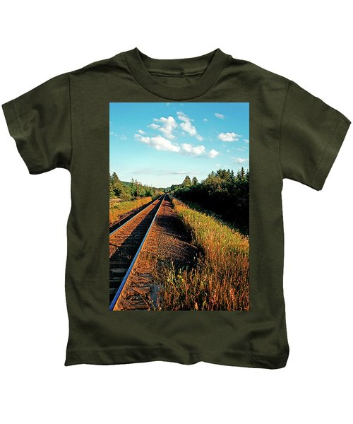 Rural Country Side Train Tracks Kids T-Shirt