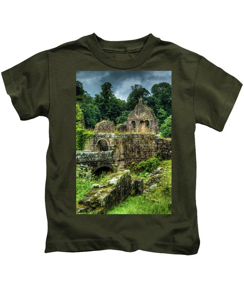 Rustic Abbey Remains Kids T-Shirt
