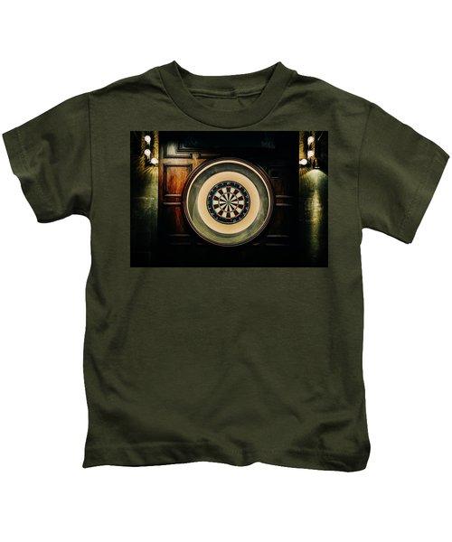 Rustic British Dartboard Kids T-Shirt