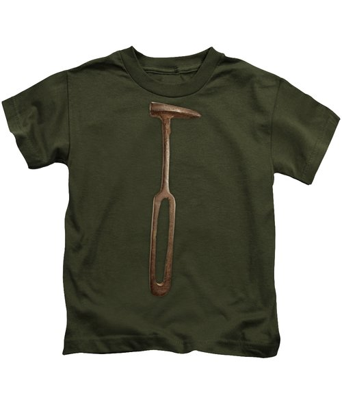 Rustic Hammer On Black Kids T-Shirt