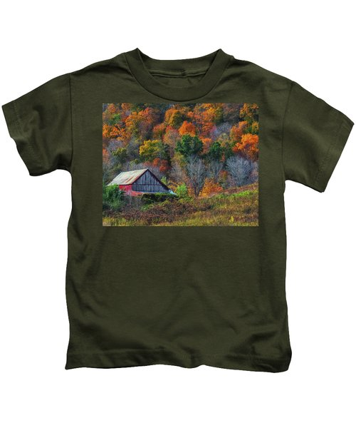 Rustic Out Building In Southern Ohio  Kids T-Shirt