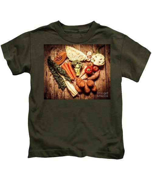 Rustic Style Country Vegetables Kids T-Shirt by Jorgo Photography - Wall Art Gallery
