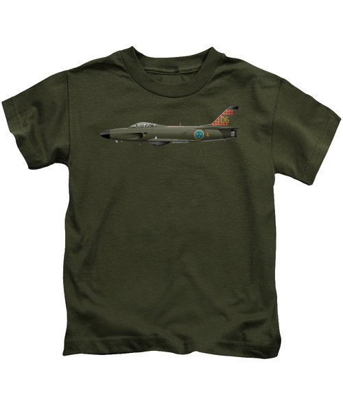 Saab J32d Lansen - 32606 - Side Profile View Kids T-Shirt