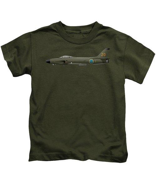 Saab J32e Lansen - 32620 - Side Profile View Kids T-Shirt