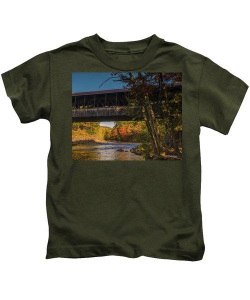 Saco River Covered Bridge Kids T-Shirt