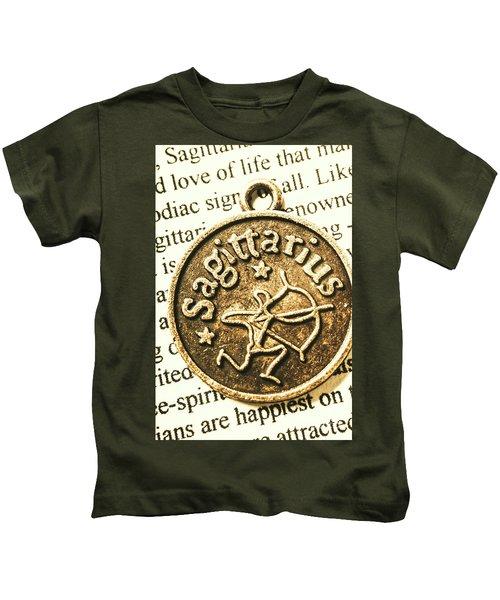 Sagittarius Astrology Design Kids T-Shirt