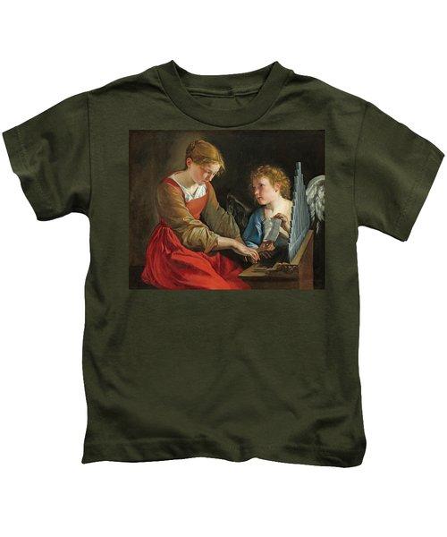 Saint Cecilia And An Angel Kids T-Shirt
