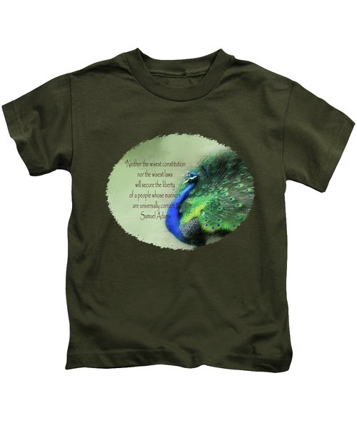 Samuel Adams - Quote Kids T-Shirt