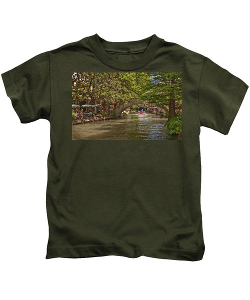 San Antonio Riverwalk Kids T-Shirt