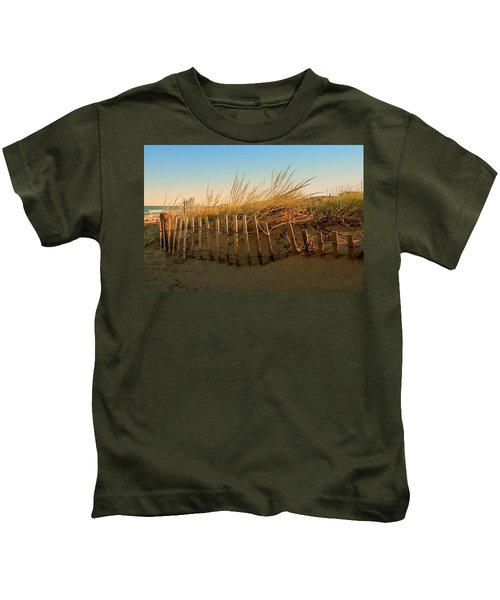 Sand Dune In Late September - Jersey Shore Kids T-Shirt