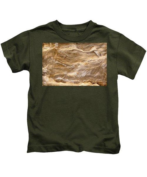 Sandstone Formation Number 3 At Starved Rock State Kids T-Shirt