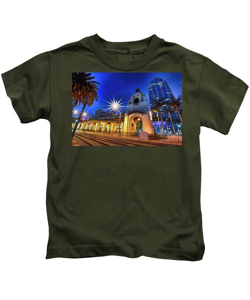 Santa Fe At Night Kids T-Shirt