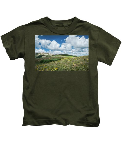 Sawatch Range In Central Colorado. Kids T-Shirt