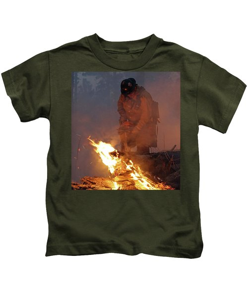 Sawyer, North Pole Fire Kids T-Shirt