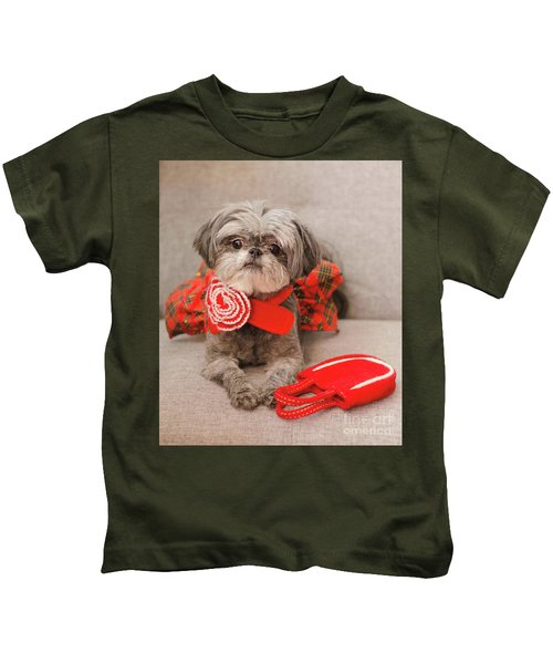 Scarlett And Red Purse Kids T-Shirt