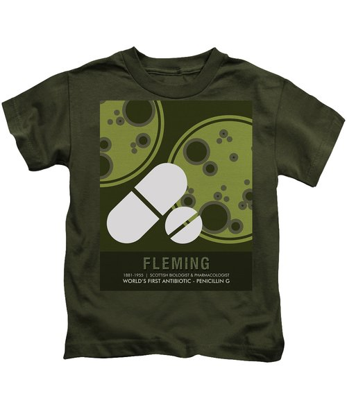 Science Posters - Alexander Fleming - Biologist, Pharmacologist Kids T-Shirt