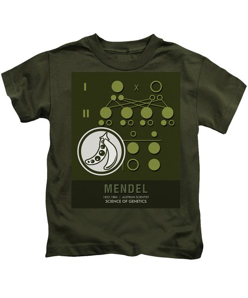 Science Posters - Gregor Mendel - Geneticist, Scientist Kids T-Shirt