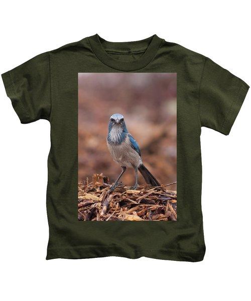 Scrub Jay On Chop Kids T-Shirt