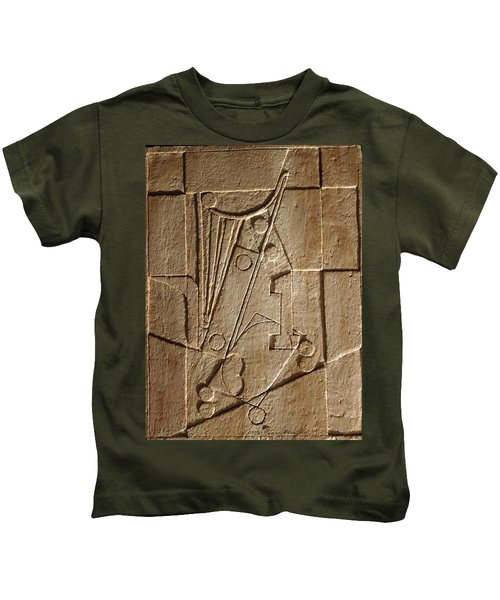 Sculptured Panel - Influenced By Picasso's Painting Having The Number 1 Kids T-Shirt
