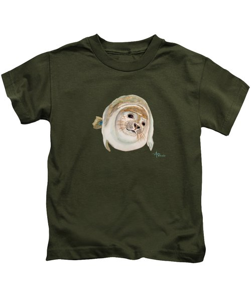 Sea Lion Watercolor Kids T-Shirt