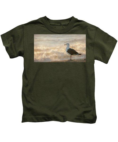 Seagull At Sunrise Kids T-Shirt