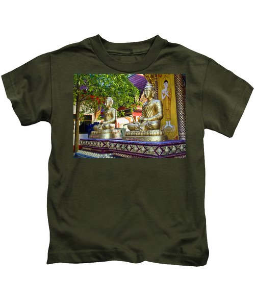 Seated Buddhas Kids T-Shirt